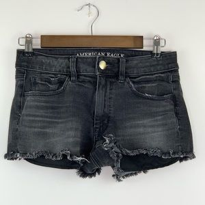 American Eagle High Rise Shortie Distressed 6